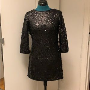 ⭐️ H&M sequin draped back dress